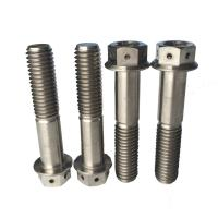 China Ti Ti6al4v Hexagon flange titanium bolts for bicycle,Flange Bolts on sale