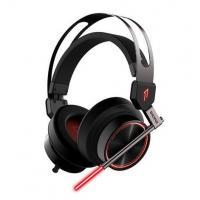 USB 7.1 Surround Sound Virtual Reality Headset , LED Light Around Ear Headphones For PC Manufactures