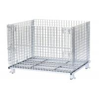 Heavy Duty Foldable Stacking Steel Wire Mesh Pet Preform Bottle Cap Storage Container for Warehouse Manufactures