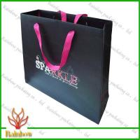 Customized Luxury Brown Kraft Paper Bags For Shopping With Hang Rope Manufactures