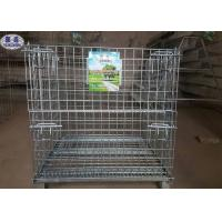 China Industrial Welded Steel Wire Container Storage Cages on sale