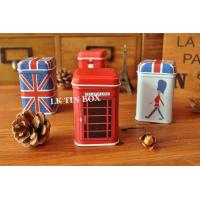 Square Coin Tin box printing with stackable lid , Metal Storage Tins Manufactures