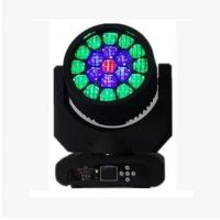 Quality 19x12w RGBW 4in1 Zoom Led Big Bee Eyes Moving Head Disco Stage Lights /DJ Light for sale