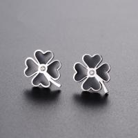 Buy cheap Custom fashion four leaf clover jewelry earrings stainless steel metal lucky you from wholesalers