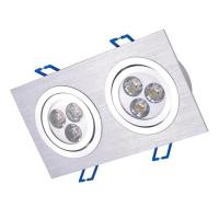 6W Square Ceiling downlight 2*3*1W Light Fixture from Youth Green Lighting Technology Co., Ltd Manufactures