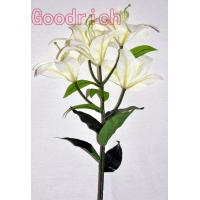 discount fabric lily with 5 flower heads Manufactures