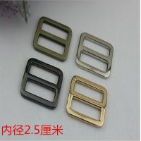 Custom zinc alloy 25 mm nickel color metal adjustable strap slide buckle for backpack Manufactures