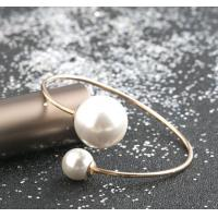 Fashion Stainless Steel Bangle Bracele, Big Pearl Braceelet for women Manufactures