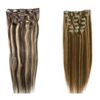 Silky Straight Remy Dark Brown Hair Extensions Clip In Human Hair Manufactures