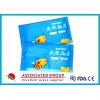 Single Piece Baby Wet Wipes , 55gsm 10PCS / Bag Water Baby Wipes No Fragrance Mini Size Manufactures