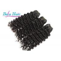 Natural Black Unprocessed Virgin Human Hair Brazilian Deep Wave Curly Virgin Hair Manufactures