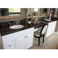 Black Color Artificial Stone Countertops Cabinet / Prefabricated Vanity Tops Manufactures