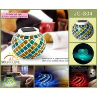 Beautiful Rainbow Glass Solar Powered Night Light For Bedroom / Sitting Room Manufactures
