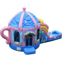 China Teapot Inflatable Combo Bounce Slide Custom Made Blow Up Attractions Structures on sale