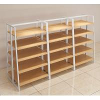 China Customized quality 5 layer metal and wood permanent displays for retail store on sale