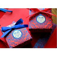 India  wedding favor gift cardboard boxes /warm ,festive and red wedding boxes Manufactures
