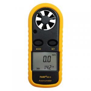 China TASI-8816 Digital Pocket Anemometer Simple Handle Handheld Wind Speed Meter THE SPEED AND TEMPERATURE DAUL DISPLAY on sale