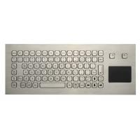 Quality 85 Keys Washable Ruggedized Keyboard , Stainless Steel Keyboard With Touchpad for sale