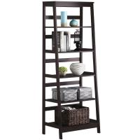 Wooden Ladder Shelf ,Tall Book Shelves With Customized Color Manufactures