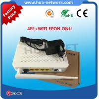 2017 hottest 4 FE WIFI EPON ONU HZW-E804-W with factory price