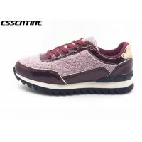 Warm Ladies Luxury Casual Shoes Glitter And Imitation Suede Lace Up Europe Style Manufactures