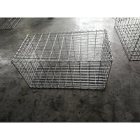 1mx0.5mx0.5m Gabion Mesh Cages , Building Gabion Baskets With 5 MM Thickness Manufactures