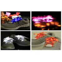 Custom DJ Activity Party Flashing LED Light Up Shoelaces / Ribbon LED Shoe Strings Manufactures