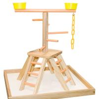 wooden table top bird stands,for sun conures and cockatiel Manufactures