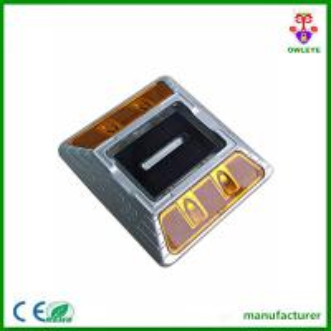 China yellow led flash double sided cat eye reflector solar led road markers on sale