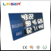 12 inch White Digits College Electronic Soccer Scoreboard Led Football Scoreboard Manufactures