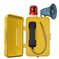 Auto Dial Industrial Weatherproof Telephone Vandal Proof With Broadcast Manufactures