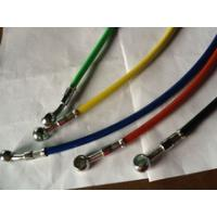 China TS1649 ISO CERTIFICATED DOT SAE J1401 Standard1/8 motorcycle colored stainless steel braided brake hose line on sale