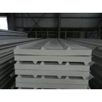 Insulated pu foam sandwich panels , polyurethane building panels for steel structure plant Manufactures