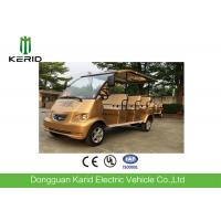 Royal Gold Color Electric Shuttle Bus For 8 Passengers Battery Operated Manufactures