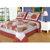 Imitated Patchwork Cotton Quilted Bedspread Machine Wash Cold Delicate Manufactures