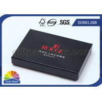 Glossy Lamination Black Rigid Gift Paper Box with Paper Tray , Electronics Packaging Box Manufactures