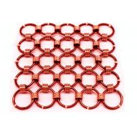 1.5 x15mm Brass Color Metal Chainmail Ring Mesh Drapery For Window Screen Manufactures