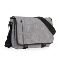 15 Inch Laptop Messenger Bag Grey Color , Outdoor Messenger Bags For College Students Manufactures