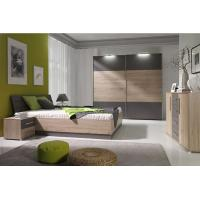 Mirrored Bedroom Furniture With Side Table , Mordern Bedroom Storage Furniture Sets Manufactures