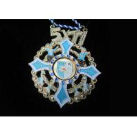 Zinc Alloy, Pewter 2D or 3D Gesellschaft Carnival Medal with Gold Plating, Color Clown Logo Manufactures