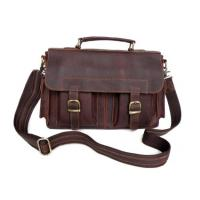 New Style Real Leather Handbag Briefcase Messenger Bag Manufactures