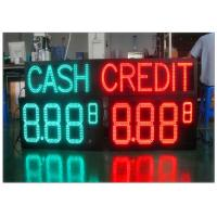 Wireless Remote Control Gas Station LED Signs 4 Digits Number Display With 110° Viewing Angle Manufactures
