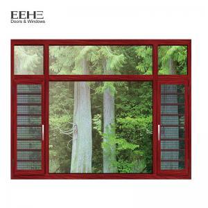 China Fly Screen Bronze Aluminium Windows , Turn Aluminum Clad Casement Windows on sale