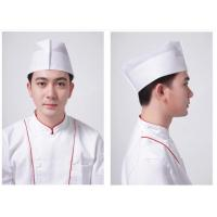 White Breathable Kitchen Chef Hat Single Use , Non Woven Paper Food Service Hats Manufactures