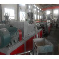 China Conical Two Screw Extruder , Wood Plastic Composite / PVC Extruder on sale