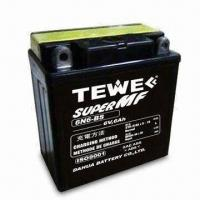 China 6V Motorcycle Battery with Rated Capacity 6Ah on sale