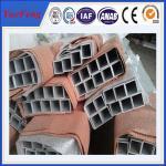 Powder Coating Colored Square Aluminum Tube/ aluminium square pipe Manufactures