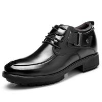 China Black Oxfords Leather Shoes Men's Elevator Height Increased Shoes Taller 3.15 Inches on sale