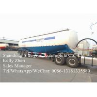 Bulk Cement Powder 3 Axles Semi Trailer With 25- 85 Cubic Meters Tanks Manufactures