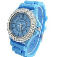 China Ladies Watch Classic Crystal Jelly Silicone Geneva watch on sale